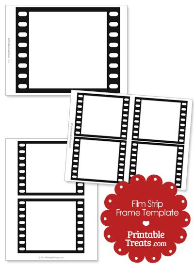 Printable Vertical Filmstrip Frame Template