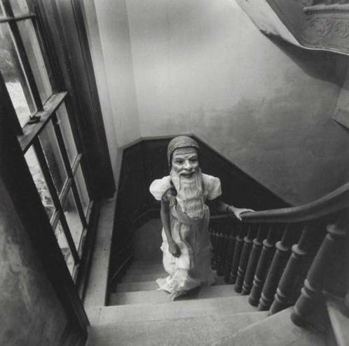 Up the down staircase: Creepy, Vintage Halloween, Gardens Gnomes, Masks, Arthur Tress, Human Body, Halloween Photos, Arthurtress, Photography