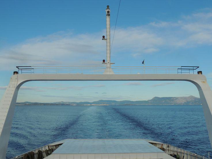 Sailing away from Corfu