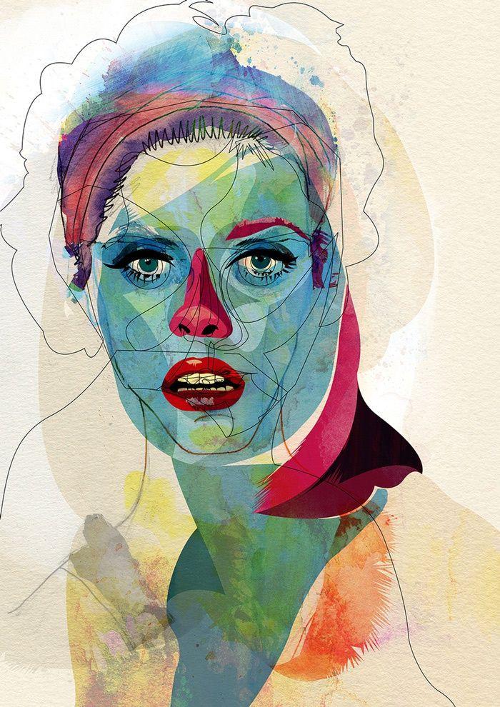 Illustrated portrait by Alvaro Tapia Hidalgo