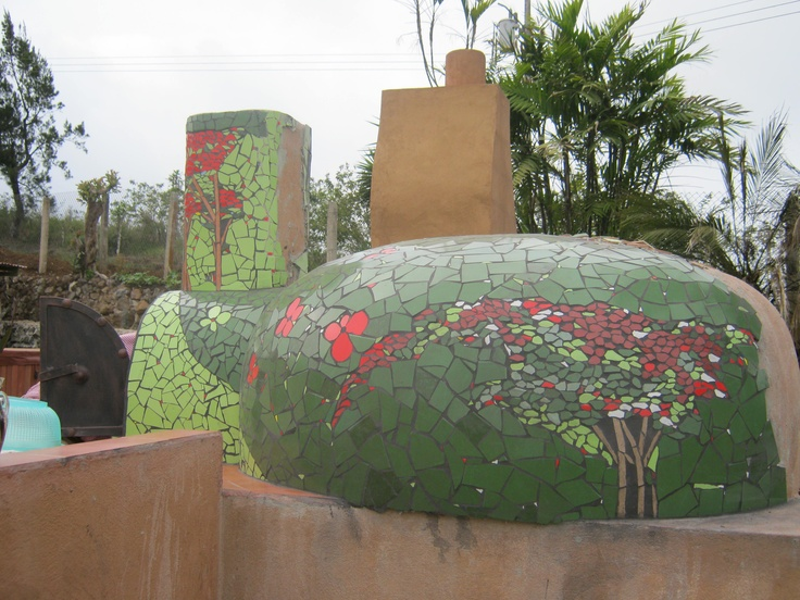 Pizza Oven Covered In Handmade Mosaic Tile Pizza Oven