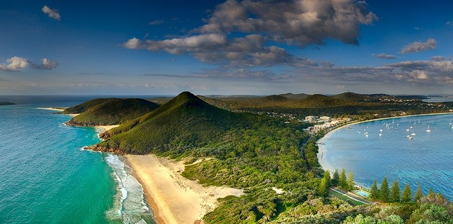 Port Stephens Panorama – Zenith Beach, Shoal Bay. Australia Tomaree Headland Panoramic Print By Kiall Frost