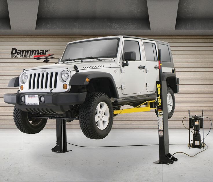 This 2-post portable lift is perfectly designed for home ...