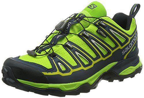 Salomon X Ultra 2 GTX, Herren Trekking- & Wanderhalbschuhe, Grün (Granny Green/Deep Blue/Green Glow), 42 2/3 EU (8.5 Herren UK) - http://on-line-kaufen.de/salomon/42-2-3-eu-salomon-x-ultra-2-gtx-herren-trekking-5