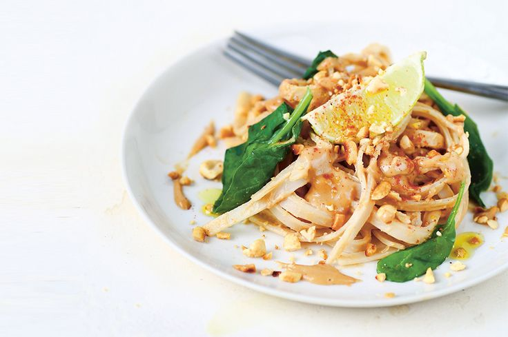 For those weeks when you forgot to meal prep or those nights you just can't, this healthy take on satay noodles is an easy go-to.
