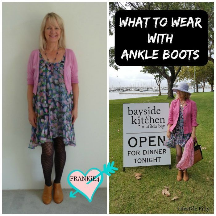 What to wear with Tan Ankle Boots this Season - Floaty Dress - Lifestyle Fifty