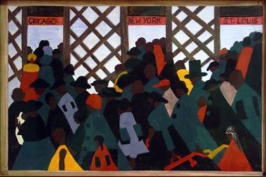 Jacob Lawrence - The Migration Series 1940/41. 1.During the World War there was a great migration North by Southern Negroes.