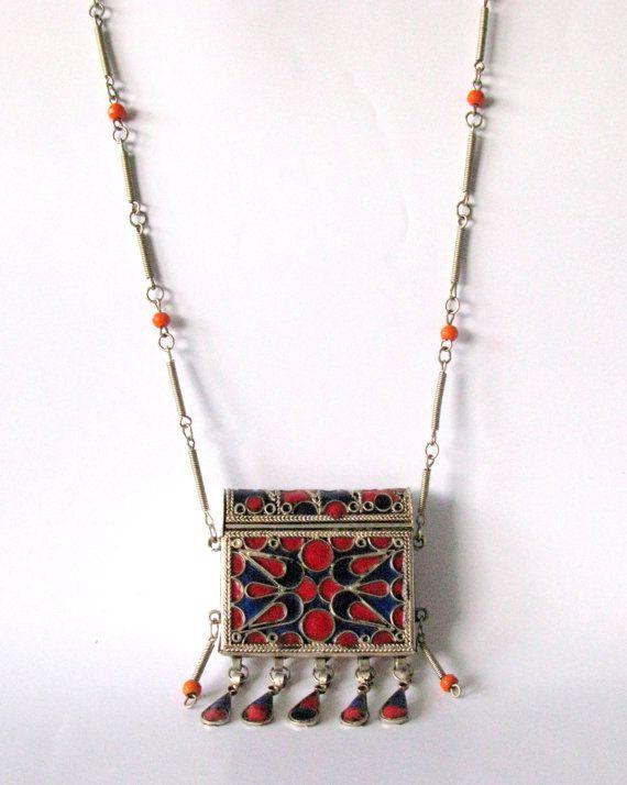 Prayer Box Necklace Prayer Holder Ghau Necklace by Sfuso on Etsy