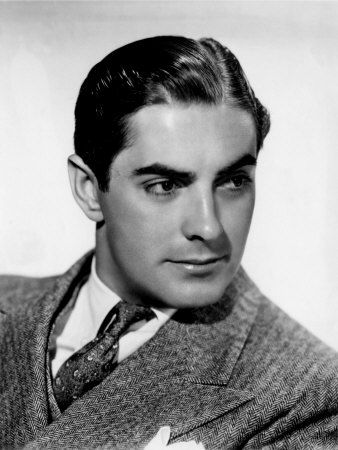 Tyrone Power ca 1930s- one of his movies is Witness for the Prosecution ...one of my faves!