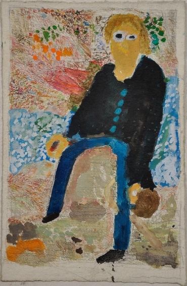 Alvaro Alvarez Not titled (seated figure) | Arts Project Australia
