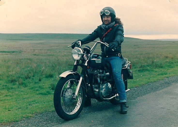 Man on a motorbike… Col out on the moors on his Triumph Bonneville