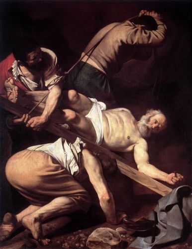 Caravaggio's Martyrdom of St.Peter at San Luigi dei Francese.  Nothing like seeing work in situ.  Let's go to Rome!