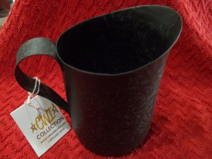 PRIMITIVE Rustic Country Galvanized Measuring Cup Pitcher Hammered Metal NEW $8.88