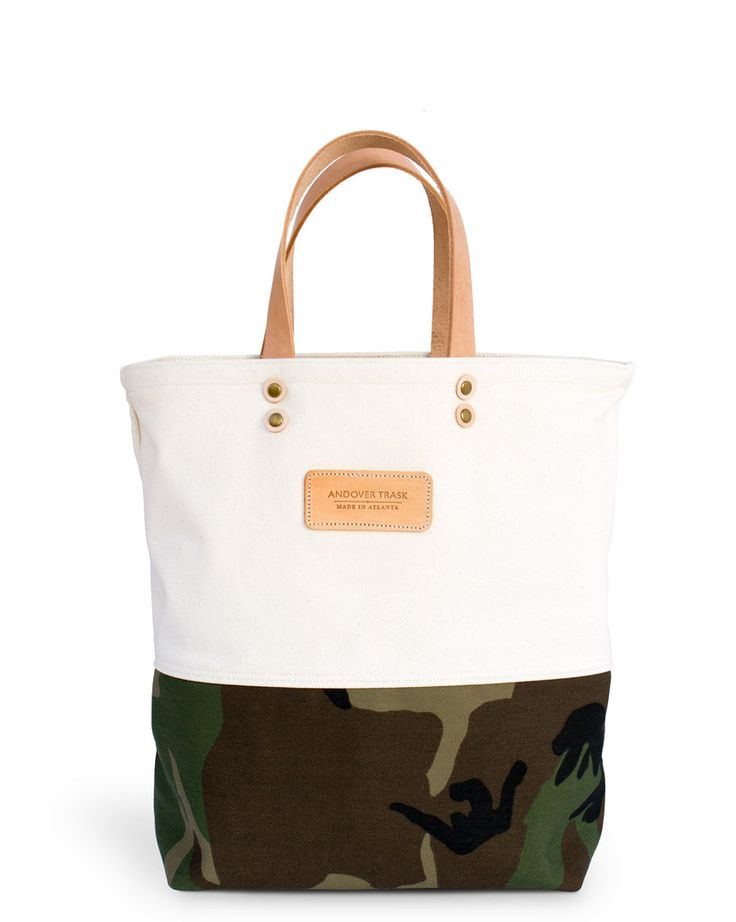 Camo Tote Bag from Andover Trask Bag Co.