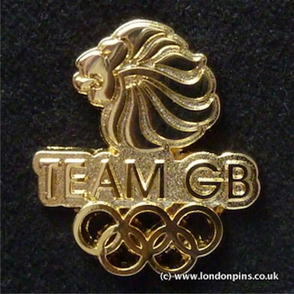 Kate's Team GB Olympic pin badge worn during the Olympic Games in 2012.