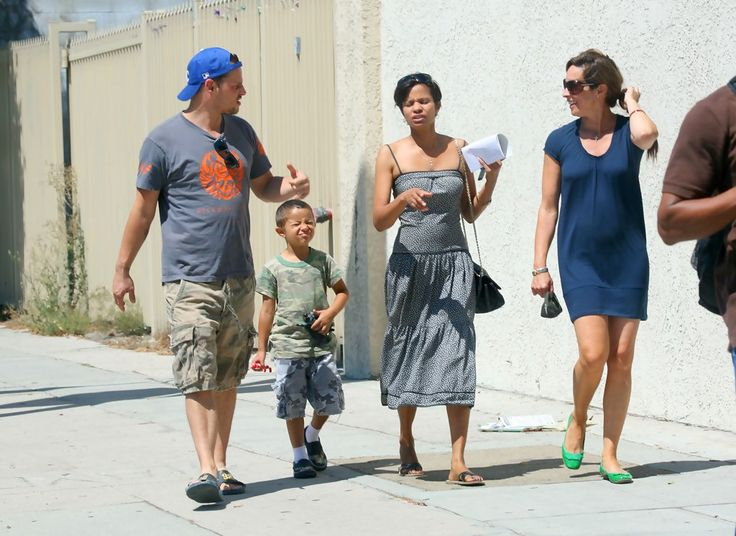 Justin Chambers Rebecca Gayheart Photos: Rebecca Gayheart and His Family at Cafe Med