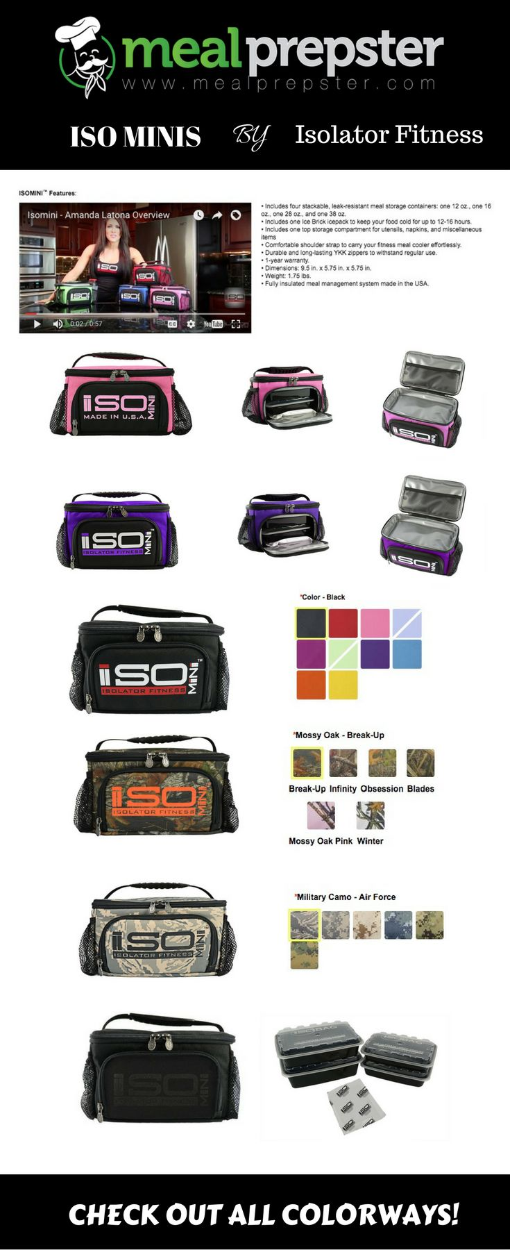 THE ISO MINI 1-2 MEAL LUNCH COOLER This small soft-sided lunch box that carries1-2 meals is ideal for children and adults who will be out of the house for a short duration, but want to be sure they have nutritious food on hand. A GREAT LUNCH COOLER THAT WILL HOLD UP TO EVERYDAY USE Check out more here: https://isolatorfitness.com/meal-prep-bags?acc=384