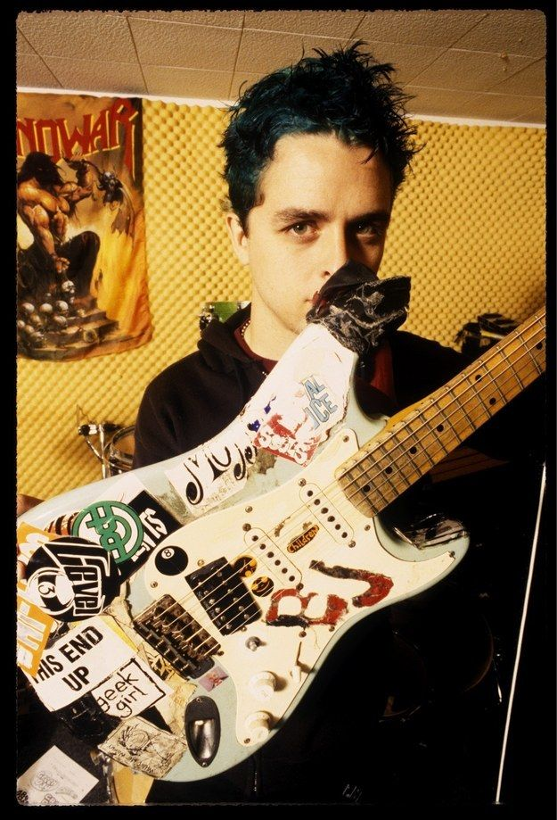 Billie Joe still has 'Blue' his first electric guitar ever.   21 Reasons Why Green Day Is Still The Best