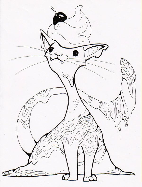ice cream kitty google search - Tmnt Coloring Book