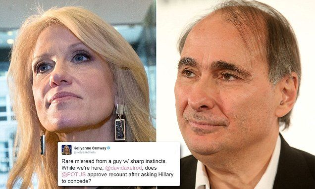 Kellyanne Conway asks David Axelrod if Obama approves of Wisconsin recount | Daily Mail Online
