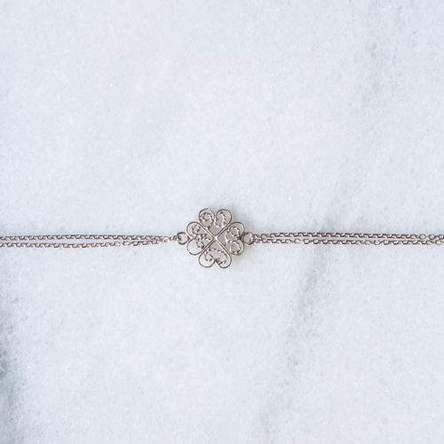 "Filirose ""Dina Silver Bracelet"" - Minimalistic, elegant fine jewelry with Portuguese filigree"