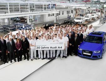 Audi A4 отмечает 20-летний юбилей