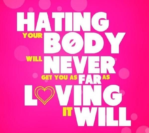 Love on your body.  #fitness #inspiration