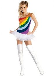 sexy rainbow bright costume