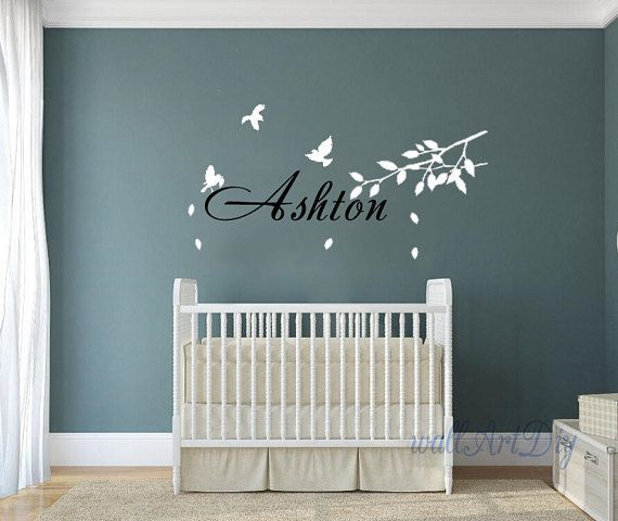 Kid's name wall decals Children name wall sticker by WallArtDIY