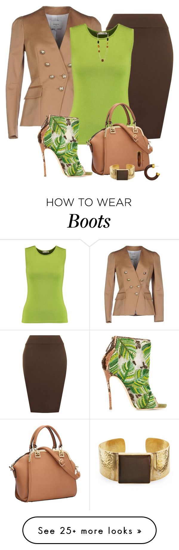 """""""Dsquared2 Embroidered Boots"""" by arjanadesign on Polyvore featuring Ports 1961, WearAll, Oscar de la Renta, Dsquared2, Kenneth Jay Lane, WorkWear, oscardelarenta and dsquared2"""