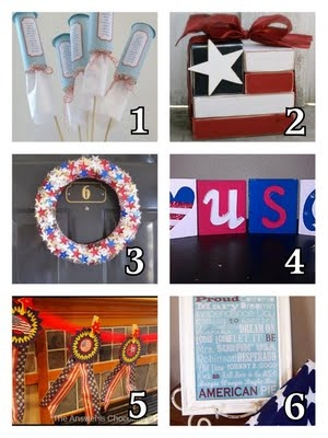 *Rook No. 17: recipes, crafts & creative nesting*: Fourth of July Craft & Recipe Round-up -- A Little Birdie Told Me...No. 27