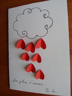 pluie d'amour - Saint Valentin - Activité pour enfants