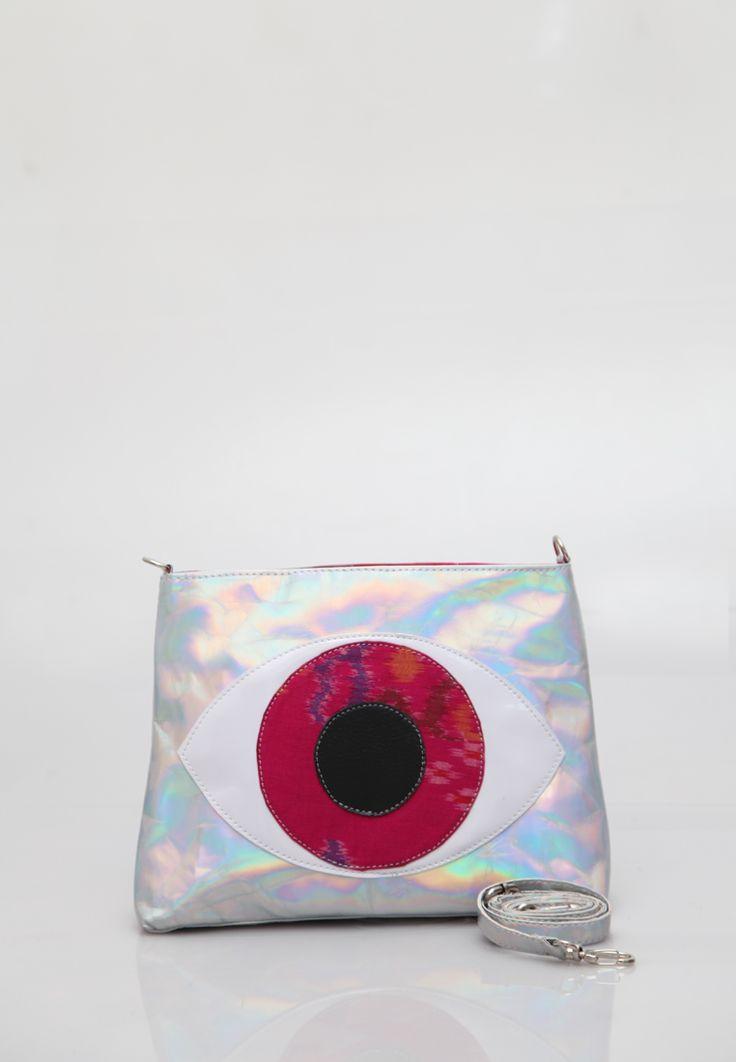 Manikan Eye Bag, Ikat, Pink, Endek