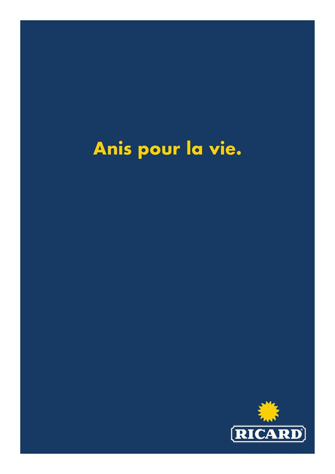 """Anis pour la vie"" (Ricard) I © Antoine Louis - Accrochage verbal"