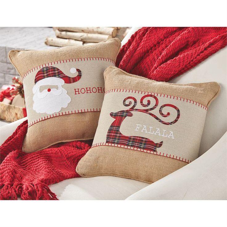 Tartan Christmas Pillow Wraps | Mud Pie