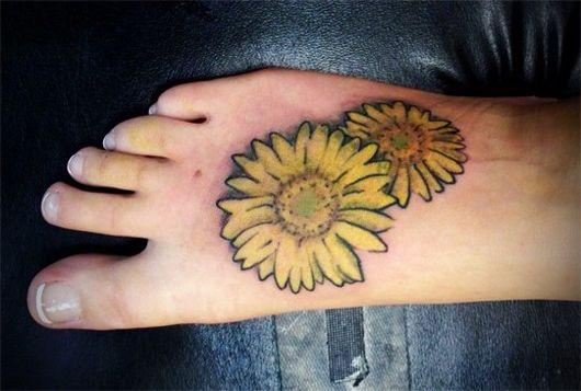 Sunflower Foot Tattoo Trend 2011