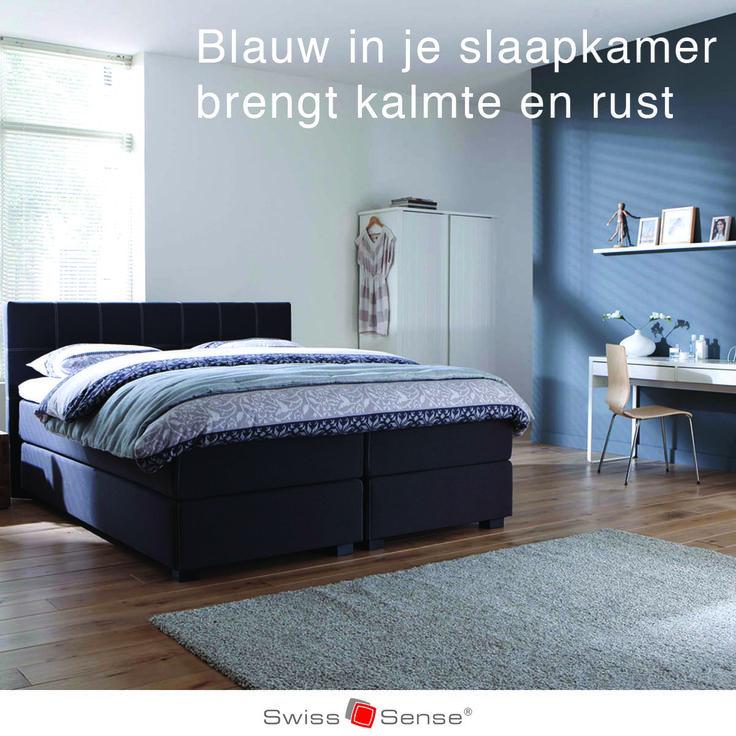 Wist je dat je langer slaapt in een blauwe slaapkamer? Maar liefst 7 uur en 52 minuten om precies te zijn. Blauw geeft namelijk kalmte en rust, net als de kleuren geel en groen.   #slaaptips #blauw