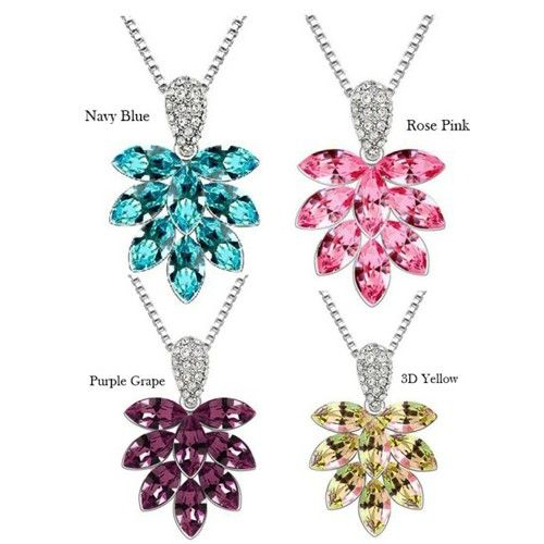 Temukan dan dapatkan Kalung Swarovski Crystal Elements Leaf Pendant hanya Rp 200.000 di Shopee sekarang juga!…