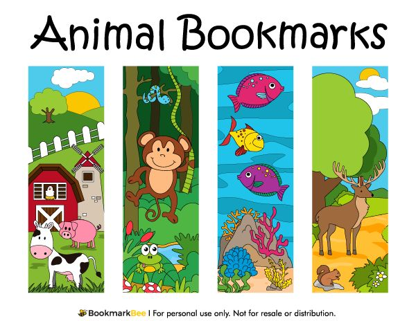 100 best printable bookmarks at bookmarkbee images on free printable animal bookmarks the animals include farm animals ocean life and more pronofoot35fo Gallery