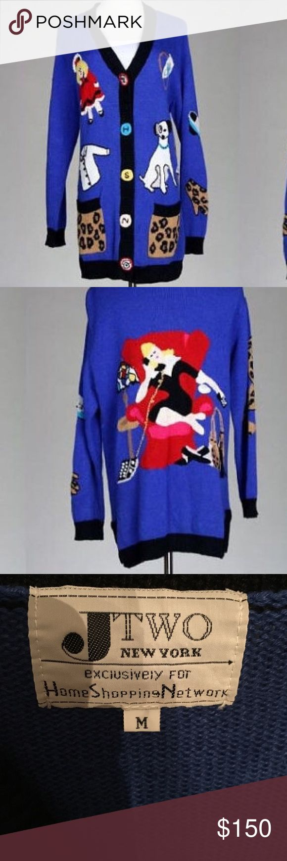 RARE!!! HSN vintage 80's sweater Exclusively made for home shopping network Jtwo New York vintage sweater. Amazing details Sweaters