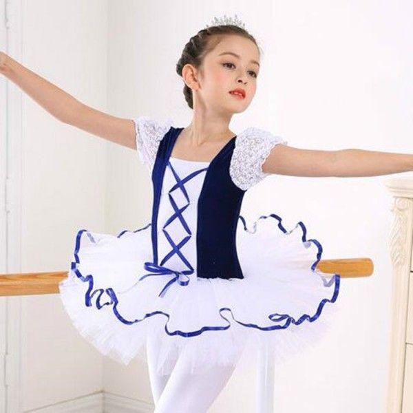 b3afd83872c8 Girls ballet dance dresses modern dance dress for kids children navy ...