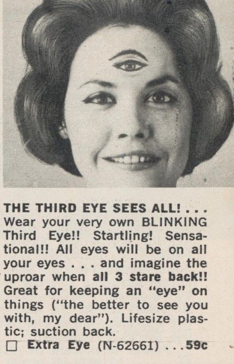Year? Madge figured if she could just get that third eye to wink at people she'd be the most popular gal at the dance.
