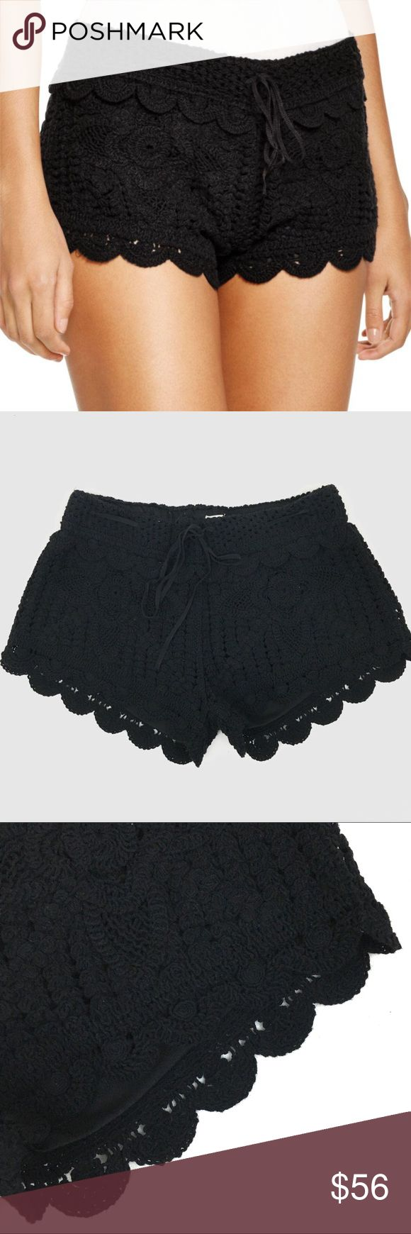[Surf Gypsy] NWOT Black Crochet Shorts NWOT never worn! Black Surf Gypsy Crochet Shorts. Purchased at a boutique in LA. There is a soft thin lining on the inside to keep from being see through. Adjustable ribbon tie. Always open to considering offers! Surf Gypsy Shorts