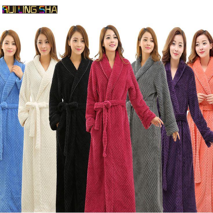 Hot Selling Women Long Thick Warm Winter Super Bath Robe Lovers Kimono Bathrobe Men Dressing Gown Bride Wedding Bridesmaid Robes