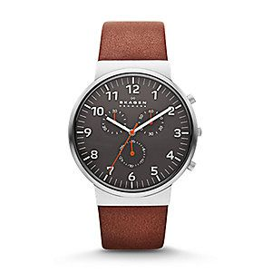 Ancher Leather Chronograph Watch