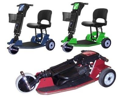 Our Amigo TravelMate III is a super lightweight, easily fold-able Electric Scooter offering exceptional features such as a drive hub motor and twist grip throttle, with 3 stylish colors to choose from!  http://www.scooterlink.com/product.cfm?p=Amigo-TravelMate-III-Folding-Electric-3-Wheel-Scooter=2