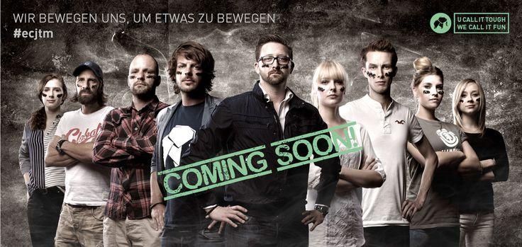 Coming soon...#ecjtm Wir bewegen uns, um etwas zu bewegen! U call it tough, we call it fun...