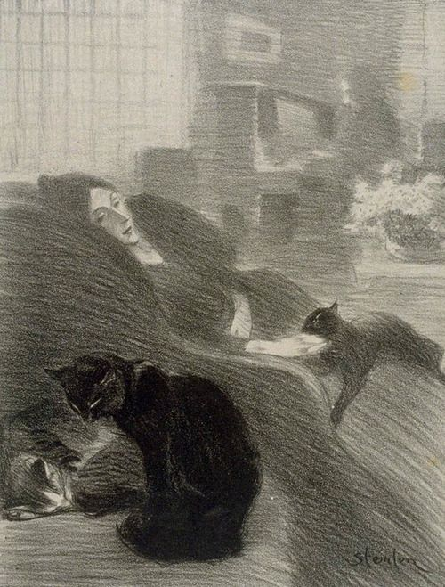 Théophile Alexandre Steinlen (Swiss; 1859–1923) Quand nous serons vieux! - When We're Old! (Published: Chansons de Montmartre: Lithographies de Steinlen.