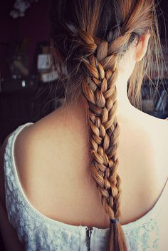 Split hair into 3 equal sections & braid each so you end up with 3 braids, then braid into one.
