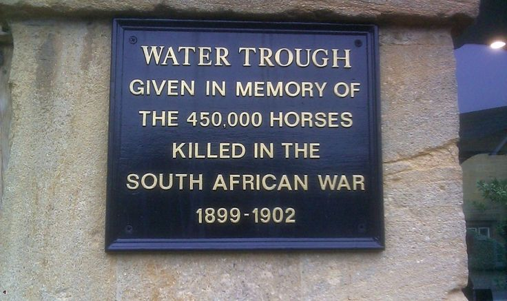 Plaque in Martock, Somerset, in memory of the horses killed in the Boer War.